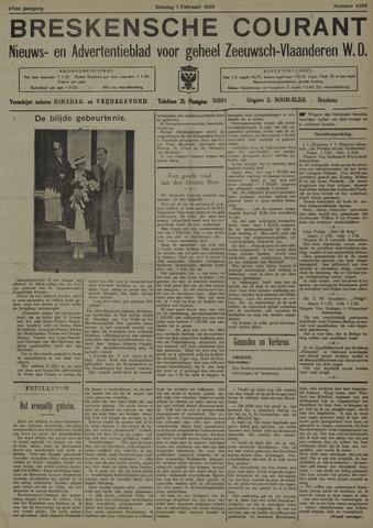 Breskensche Courant 1938-02-01