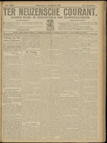 Ter Neuzensche Courant. Algemeen Nieuws- en Advertentieblad voor Zeeuwsch-Vlaanderen / Neuzensche Courant ... (idem) / (Algemeen) nieuws en advertentieblad voor Zeeuwsch-Vlaanderen 1917-08-04