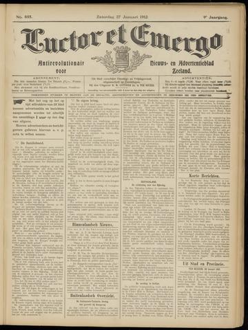 Luctor et Emergo. Antirevolutionair nieuws- en advertentieblad voor Zeeland / Zeeuwsch-Vlaanderen. Orgaan ter verspreiding van de christelijke beginselen in Zeeuwsch-Vlaanderen 1912-01-27