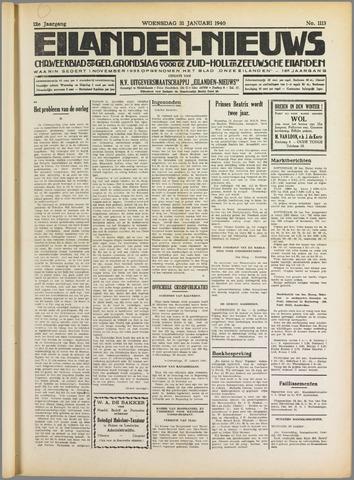 Eilanden-nieuws. Christelijk streekblad op gereformeerde grondslag 1940-01-31