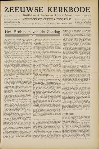 Zeeuwsche kerkbode, weekblad gewijd aan de belangen der gereformeerde kerken/ Zeeuwsch kerkblad 1950-09-15