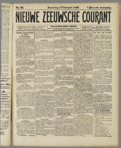 Nieuwe Zeeuwsche Courant 1919-02-01