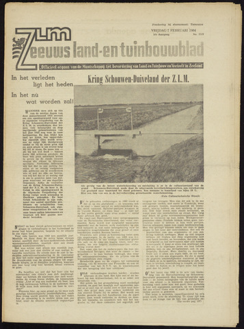 Zeeuwsch landbouwblad ... ZLM land- en tuinbouwblad 1964-02-07