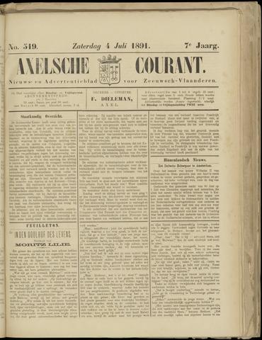 Axelsche Courant 1891-07-04