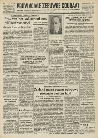 Provinciale Zeeuwse Courant 1952-02-04