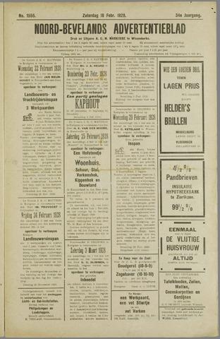 Noord-Bevelands Nieuws- en advertentieblad 1928-02-18