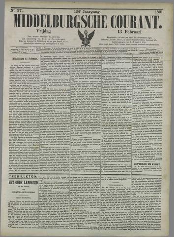 Middelburgsche Courant 1891-02-13