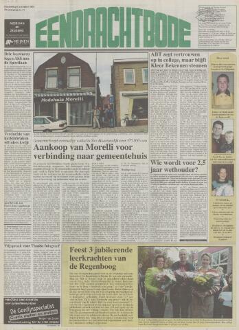 Eendrachtbode (1945-heden)/Mededeelingenblad voor het eiland Tholen (1944/45) 2003-11-06