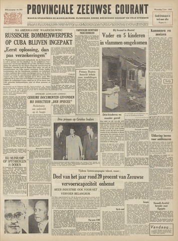 Provinciale Zeeuwse Courant 1962-11-07