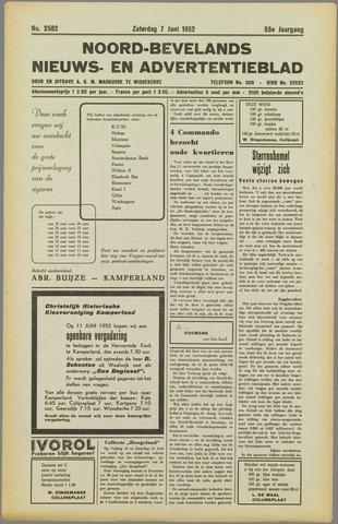 Noord-Bevelands Nieuws- en advertentieblad 1952-06-07