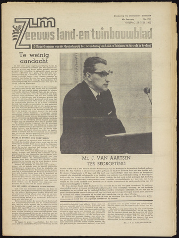 Zeeuwsch landbouwblad ... ZLM land- en tuinbouwblad 1965-05-28