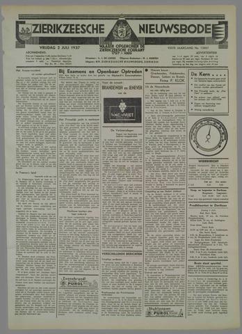 Zierikzeesche Nieuwsbode 1937-07-02