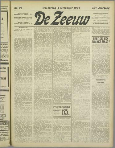 De Zeeuw. Christelijk-historisch nieuwsblad voor Zeeland 1924-12-04