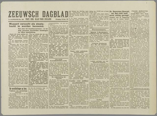 Zeeuwsch Dagblad 1945-10-16