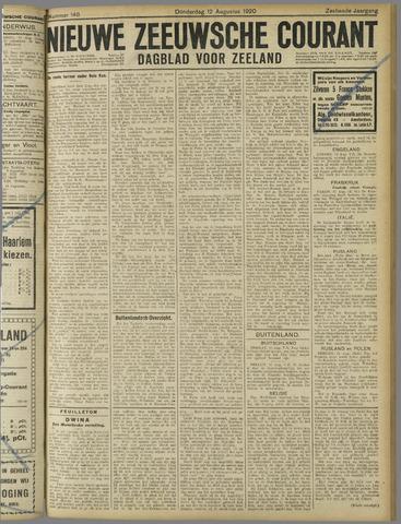 Nieuwe Zeeuwsche Courant 1920-08-12