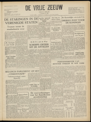 de Vrije Zeeuw 1952-04-11