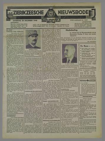 Zierikzeesche Nieuwsbode 1940-12-28