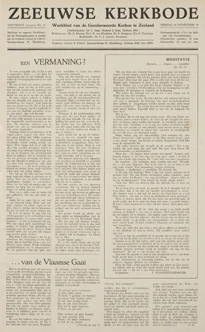Zeeuwsche kerkbode, weekblad gewijd aan de belangen der gereformeerde kerken/ Zeeuwsch kerkblad 1959-11-20
