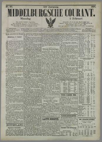 Middelburgsche Courant 1891-02-02