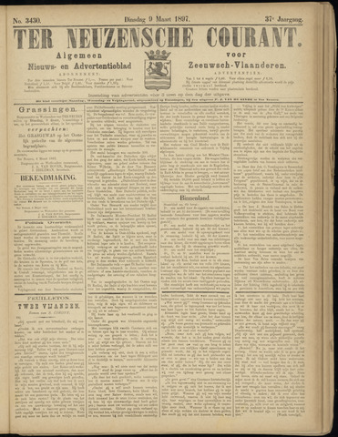 Ter Neuzensche Courant. Algemeen Nieuws- en Advertentieblad voor Zeeuwsch-Vlaanderen / Neuzensche Courant ... (idem) / (Algemeen) nieuws en advertentieblad voor Zeeuwsch-Vlaanderen 1897-03-09