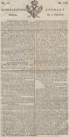 Middelburgsche Courant 1763-09-13