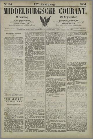 Middelburgsche Courant 1884-09-10