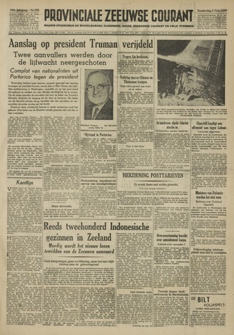 Provinciale Zeeuwse Courant 1950-11-02
