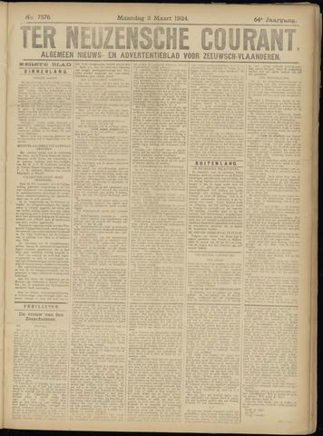 Ter Neuzensche Courant. Algemeen Nieuws- en Advertentieblad voor Zeeuwsch-Vlaanderen / Neuzensche Courant ... (idem) / (Algemeen) nieuws en advertentieblad voor Zeeuwsch-Vlaanderen 1924-03-03
