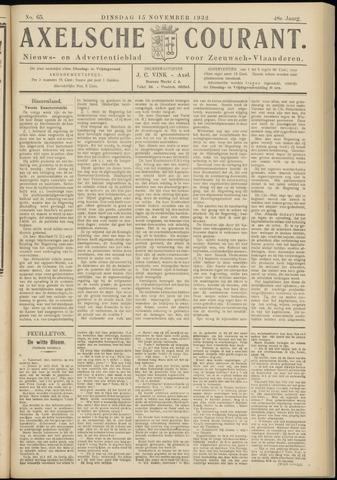 Axelsche Courant 1932-11-15
