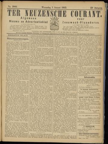 Ter Neuzensche Courant. Algemeen Nieuws- en Advertentieblad voor Zeeuwsch-Vlaanderen / Neuzensche Courant ... (idem) / (Algemeen) nieuws en advertentieblad voor Zeeuwsch-Vlaanderen 1913