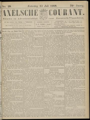 Axelsche Courant 1918-07-13
