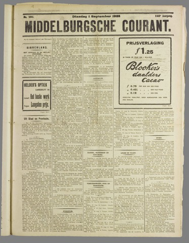 Middelburgsche Courant 1925-09-01