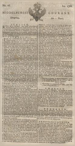 Middelburgsche Courant 1768-03-01