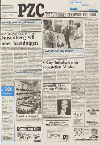 Provinciale Zeeuwse Courant 1987-04-29