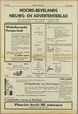 Noord-Bevelands Nieuws- en advertentieblad 1955-07-02