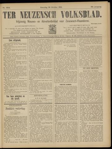 Ter Neuzensch Volksblad. Vrijzinnig nieuws- en advertentieblad voor Zeeuwsch- Vlaanderen / Zeeuwsch Nieuwsblad. Nieuws- en advertentieblad voor Zeeland 1912-10-26
