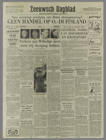 Zeeuwsch Dagblad 1960-10-01