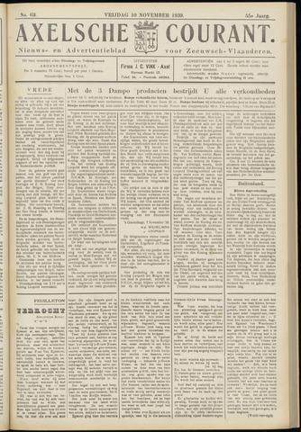 Axelsche Courant 1939-11-10