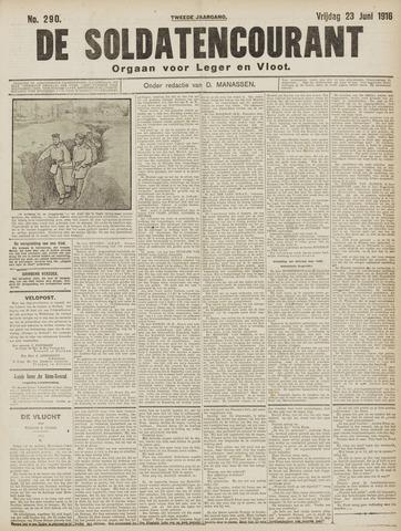De Soldatencourant. Orgaan voor Leger en Vloot 1916-06-23