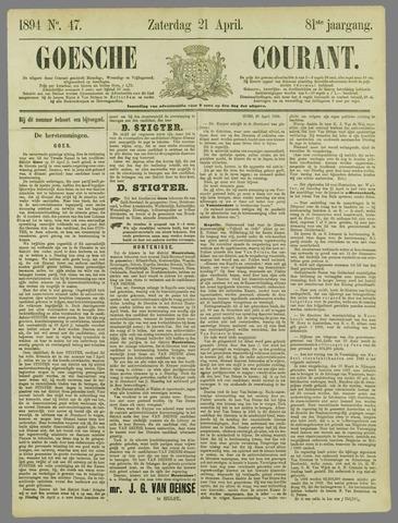 Goessche Courant 1894-04-21