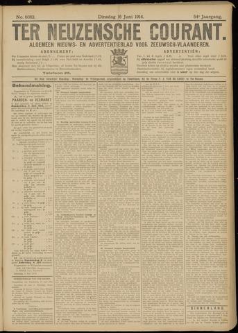 Ter Neuzensche Courant. Algemeen Nieuws- en Advertentieblad voor Zeeuwsch-Vlaanderen / Neuzensche Courant ... (idem) / (Algemeen) nieuws en advertentieblad voor Zeeuwsch-Vlaanderen 1914-06-16