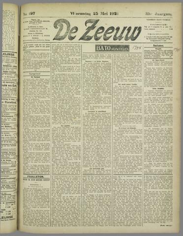 De Zeeuw. Christelijk-historisch nieuwsblad voor Zeeland 1921-05-25