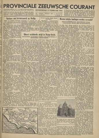 Provinciale Zeeuwse Courant 1944-02-17