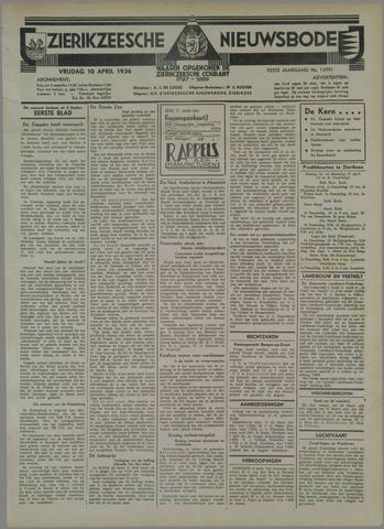 Zierikzeesche Nieuwsbode 1936-04-10