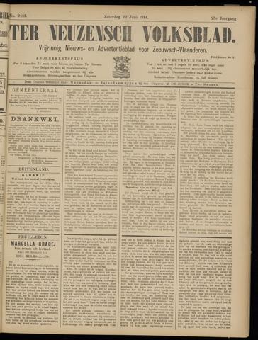Ter Neuzensch Volksblad. Vrijzinnig nieuws- en advertentieblad voor Zeeuwsch- Vlaanderen / Zeeuwsch Nieuwsblad. Nieuws- en advertentieblad voor Zeeland 1914-06-20