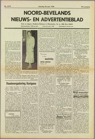 Noord-Bevelands Nieuws- en advertentieblad 1956-04-28