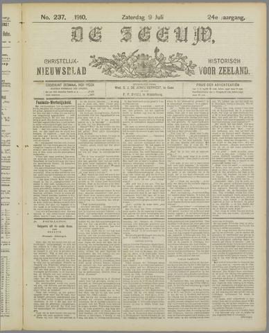 De Zeeuw. Christelijk-historisch nieuwsblad voor Zeeland 1910-07-09