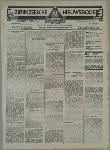 Zierikzeesche Nieuwsbode 1936-04-01