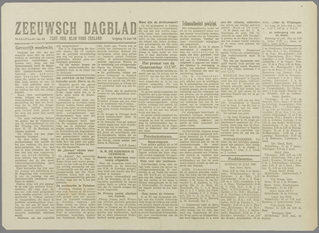Zeeuwsch Dagblad 1945-07-13