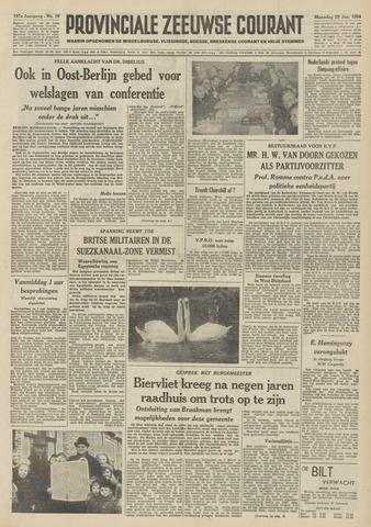 Provinciale Zeeuwse Courant 1954-01-25
